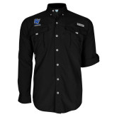 Columbia Bahama II Black Long Sleeve Shirt-GV Lakers Stacked