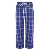 Royal/White Flannel Pajama Pant-GV Lakers Stacked