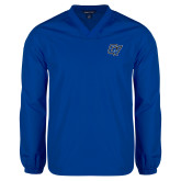 V Neck Royal Raglan Windshirt-GV