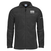 Columbia Full Zip Charcoal Fleece Jacket-GVSU Lakers Stacked