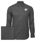Red House Dark Charcoal Diamond Dobby Long Sleeve Shirt-GV