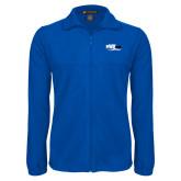 Fleece Full Zip Royal Jacket-Irwin Club
