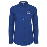 Ladies Royal Twill Button Down Long Sleeve-GV Lakers Stacked
