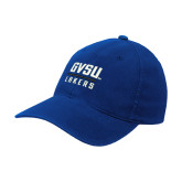 Royal Flexfit Structured Low Profile Hat-GVSU Lakers Stacked