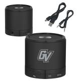 Wireless HD Bluetooth Black Round Speaker-GV Engraved