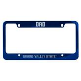 Dad Metal Blue License Plate Frame-H - Glitter Dark Blue Engraved