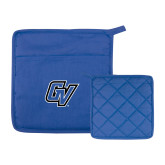Quilted Canvas Royal Pot Holder-GV