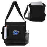 Impact Vertical Black Computer Messenger Bag-GV