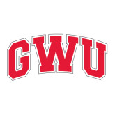 Large Decal-Arched GWU, 12 in W
