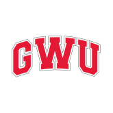 Small Decal-Arched GWU, 6 in W