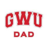 Dad Decal-Arched GWU, 6 in W