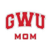 Mom Decal-Arched GWU, 6 in W