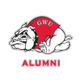 Alumni Decal-Bulldog, 6 in W