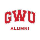 Alumni Decal-Arched GWU, 6 in W