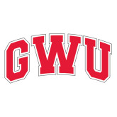 Extra Large Decal-Arched GWU, 18 in W