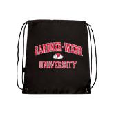 Black Drawstring Backpack-Arched Gardner-Webb University