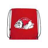 Red Drawstring Backpack-Bulldog