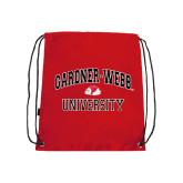 Red Drawstring Backpack-Arched Gardner-Webb University