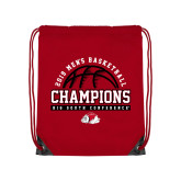 Red Drawstring Backpack-2019 Mens Basketball Chmapions