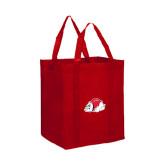 Non Woven Red Grocery Tote-Bulldog