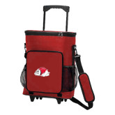 30 Can Red Rolling Cooler Bag-Bulldog