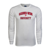 White Long Sleeve T Shirt-Arched Gardner-Webb University