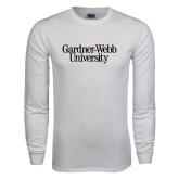 White Long Sleeve T Shirt-Gardner-Webb University