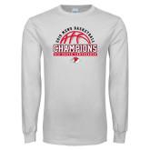 White Long Sleeve T Shirt-2019 Mens Basketball Chmapions