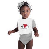 White Baby Bib-Bulldog