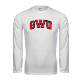 Syntrel Performance White Longsleeve Shirt-Arched GWU