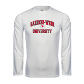 Syntrel Performance White Longsleeve Shirt-Arched Gardner-Webb University