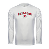 Syntrel Performance White Longsleeve Shirt-Arched Bulldogs