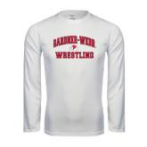 Syntrel Performance White Longsleeve Shirt-Wrestling