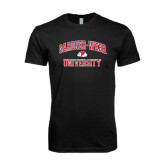 Next Level SoftStyle Black T Shirt-Arched Gardner-Webb University