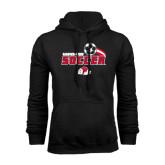 Black Fleece Hoodie-Soccer w/ Swoosh and Ball