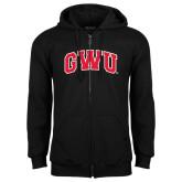 Black Fleece Full Zip Hoodie-Arched GWU