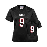 Ladies Black Replica Football Jersey-#9