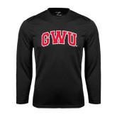 Syntrel Performance Black Longsleeve Shirt-Arched GWU