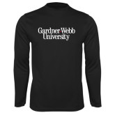 Syntrel Performance Black Longsleeve Shirt-Gardner-Webb University