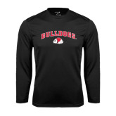 Syntrel Performance Black Longsleeve Shirt-Arched Bulldogs