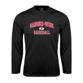 Syntrel Performance Black Longsleeve Shirt-Baseball