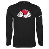 Performance Black Longsleeve Shirt-Bulldog