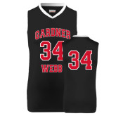 Replica Black Adult Basketball Jersey-#34