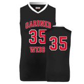 Replica Black Adult Basketball Jersey-#35