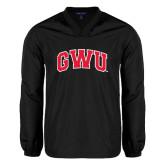 V Neck Black Raglan Windshirt-Arched GWU