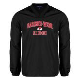 V Neck Black Raglan Windshirt-Alumni