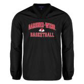 V Neck Black Raglan Windshirt-Basketball