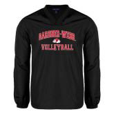 V Neck Black Raglan Windshirt-Volleyball