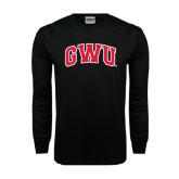 Black Long Sleeve TShirt-Arched GWU