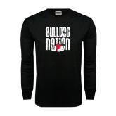 Black Long Sleeve TShirt-Bulldog Nation